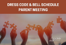 Dress code and bell schedule