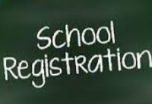 School registration text picture