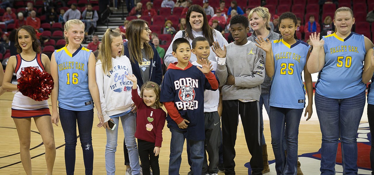 Valley Oak Students at Fresno Sate basketball game